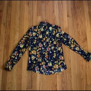 Charlotte Russe Flower Pattern Women's Blouse